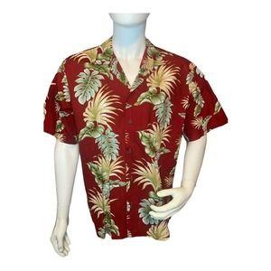 Kys Hawaiian XL Button Up Shirt ~Palms